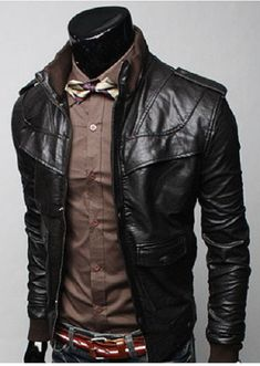 MENS STAND COLLAR JACKET, MEN SLIM FIT BIKER LEATHER JACKET, LEATHER JACKET MENS Shell cowhide skin Interior Polyester lining Front zip fasten Two side pockets One pocket on chest One inside pocket Rib on cuff and collar Ship Via dhl and skynet worldwide