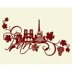 "Style and Apply Paris Floral Wall Decal Size: 33"" H x 59"" W, Color: Copper"