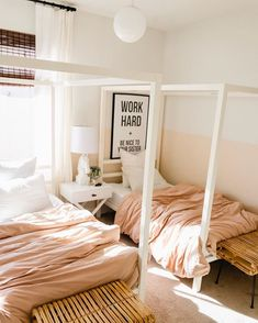 we color blocked our girls room about a year + a half ago after our Mead Dr girls room seriously stole my heart. at the time, I thought… Cool Kids Bedrooms, Kids Bedroom Designs, Girls Bedroom, Kid Bedrooms, Bedroom Ideas, Bedroom Decor, Montessori Toddler Bedroom, Toddler Rooms, Montessori Playroom