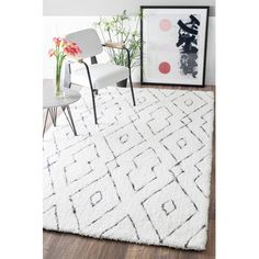 You'll love the Peraza Hand-Tufted White Area Rug at AllModern - With Great Deals on modern Décor  products and Free Shipping on most stuff, even the big stuff.