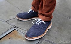 More shoes from Individualism - brown cords and blue suede brogues? Could have gone oh so wrong but looks oh so right #BurtonStreetStyle