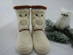 Knitting Socks, Free Knitting, Baby Knitting, Knitting Patterns, Booties Crochet, Knit Crochet, Baby Boots, Chrochet, Tatting