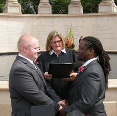 A married couple… Congrats and bless them… ♥ Blackgaykiss.net ♥ where we specialize in interracial gay dating services.It's OK to color outside the lines.Love has no color.Hope you will like it.