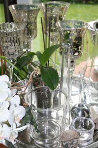 Deko: Glas und Silber
