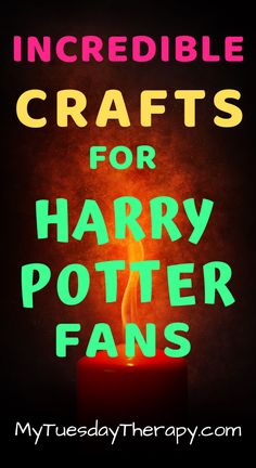 These craft ideas are great as Harry Potter party activity or do them on a rainy day with your favorite Potterhead. Craft ideas for teens.