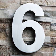 Address Street Numbers Small modern house numbers 2 up to 8 Set of 3  Metal House Numbers or Letters large Wedding Table Number