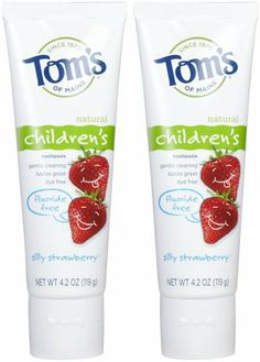 Tom's of Maine Fluoride Free Children's Toothpaste, Silly Strawberry EWG Rating of 2 $6.95/2 @ Soap.com
