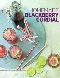 Homemade blackberry cordial - the perfect thirst-quencher on a hot day