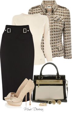 "Chic Professional Woman Outfit. ""Karen Millen #2"" by madamedeveria on Polyvore"