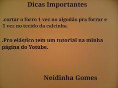 ae1ca39bc Neidinha Gomes Costuras em geral   Calcinha infantil G