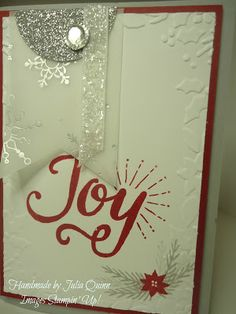 handmade by Julia Quinn  -    Independent Stampin' Up! Demonstrator: Berry Merry in Cherry and Silver