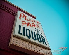 Phalen Park Liquor (St. Paul, MN). Vintage sign photography by Recapturist. Purchase as a print or canvas. Many sizes available. www.recapturist.c... Vintage Neon Signs, Vintage Ads, Feeling Minnesota, Sign O' The Times, Old Signs, Liquor Store, Signage, Park, Photography