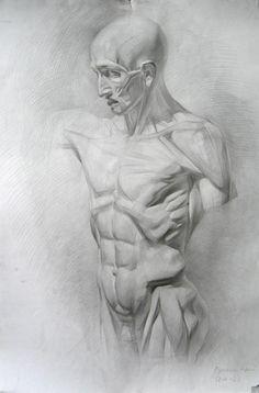 Гипсовая фигура, торс