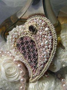 """Броши ручной работы. Ярмарка Мастеров - ручная работа брошь""""сердце"""". Handmade."""