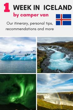 One week in Iceland by camper van. Our itinerary, personal recommendations and tips and more. Click through to read: https://mytanfeet.com/iceland/one-week-in-iceland-camper-van/