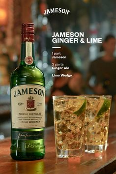 Your favorite summer serve is back for another round! The Jameson Ginger & Lime is bringing you all the light summer flavors you love. Irish Whiskey Drinks, Jameson Cocktails, Jameson Irish Whiskey, Fun Cocktails, Jameson Shots, Scotch Whiskey, Mixed Drinks Alcohol, Alcohol Drink Recipes, Refreshing Drinks