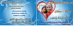 My first wedding invitation design (Front and back)
