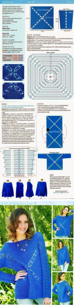 Lacy square motif   . . . .   ღTrish W ~ http://www.pinterest.com/trishw/  . . . .  #crochet