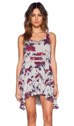 3b1a72900480f Free People Printed Trapeze Slip Dress in Smoke Combo Revolve Clothing,  Girl Fashion, Style