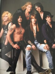 Guns N Roses Axl Rose, El Rock And Roll, Rock And Roll Bands, Steven Adler, Guns N Roses, Best Rock Bands, Cool Bands, Hair Metal Bands, Duff Mckagan