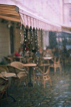 Coffee on a rainy day