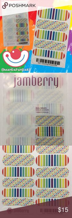 Jamberry 'Clownin Around' Nail Wraps NWT and so super fun! This is a Mixed Mani so take the guess work out of matching! Instructions sent with purchase Jamberry Accessories