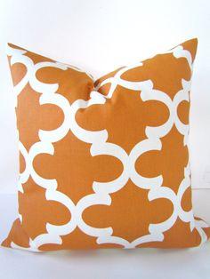 ORANGE PILLOWS Orange Decorative Throw Pillows Copper Throw pillow cover 16 18x18 20 Orange Moroccan Pillows Home and living Home Decor