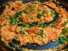 Spicy scrambled eggs by Ottolenghi. Ottolenghi, Scrambled Eggs, Fried Rice, Risotto, Fries, Spicy, Tasty, Breakfast, Ethnic Recipes