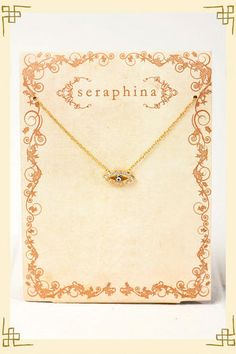 Seraphina Protected Eye Charm Necklace - Francescas