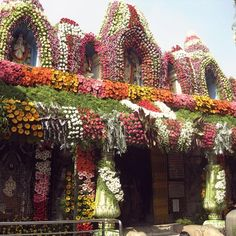 Adorned Temple in Bangalore, India (I've been to Bangalore -but I obviously missed this spot)