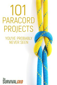 Check out these 101 DIY paracord projects you can start making now. Each project has a video that will show you how to make everything from a paracord bracelet to some heavy duty survival gear. #paracord #diy #paracordprojects