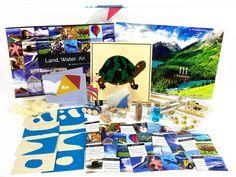 Land, Water, Air Toolbox Montessori