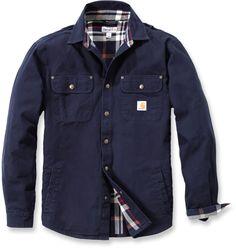 Carhartt Weathered Canvas Shirt Jacket Navy | Carhartt Workwear | Mr. Ed Superstore