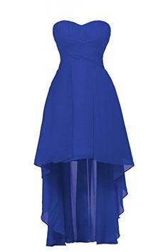 Ellames Sweetheart Hi Low Short Bridesmaid Chiffon Prom Party Dresses Royal Blue US 12 Ellames http://www.amazon.com/dp/B00SD42M2O/ref=cm_sw_r_pi_dp_eIF1ub0ZYMCDB
