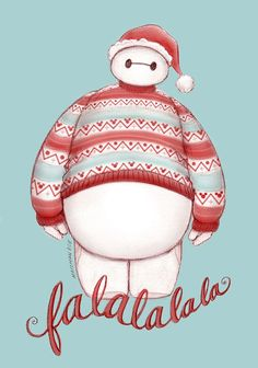Christmas Baymax (Fa-La-La-La-La) by maichan-art Disney Disney Dream, Disney Love, Disney Magic, Disney Art, Baymax, Big Hero 6, Disney Christmas, Christmas Humor, Christmas Jesus