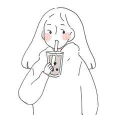 illustration art black and white Cartoon Kunst, Anime Kunst, Cartoon Art, Anime Art, Art And Illustration, Korean Illustration, Character Illustration, Watercolor Illustration, Arte Indie