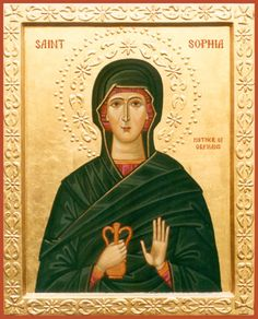Saint Sophia of Ainos, Mother of Orphans and Assistant To Those In Need. Feast day, June 4th.