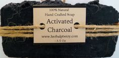100% Natural Activated Charcoal Soap by PoetryHerbal on Etsy
