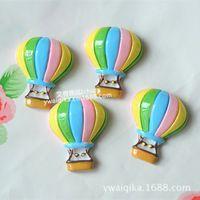 IB6057 Diretta Della Fabbrica ultime colorful hot air balloon accessori in resina materiale accessori per capelli per bambini fai da te cellulare bellezza
