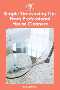 9 Timesaving Tips From Professional House Cleaners | Professional cleaners speed up a cleaning routine while still tackling all the dirt, dust, and crumbs-better with their cleaning hacks and advice. From little habits that will keep your home cleaner for longer to tips that cut down on elbow grease, here's how the experts keep house. #declutter #organizationtips #realsimple #storageideas #storagetips House Cleaners, Professional Cleaners, Laundry Hacks, Household Chores, Tidy Up, Real Simple, Grease, Clean Up, Home Organization