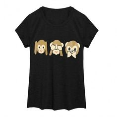 Cute Emoji Print Girls' Women's T-Shirt O Neck Short Sleeve Tops Tee