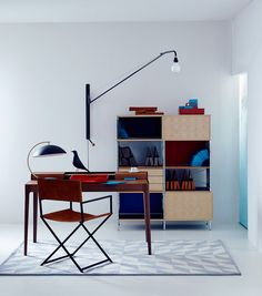 Eames Storage Unit Potence Light by Jean Prouve Loft, Home Office Furniture, Entryway Furniture, Luxury Furniture, Office Interiors, Modern Interiors, Interior Design Inspiration, Interior Ideas, Eames