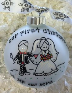Our First Christmas as Mr. & Mrs. Ornament by SomedayByTheSea