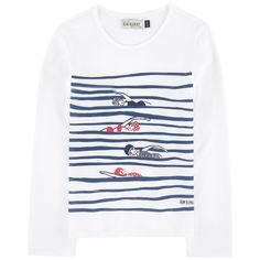 Striped cotton top Vintage Midi Dresses, Unique Dresses, Baby Kids Clothes, Diy Clothes, Textiles, Embroidered Jeans, Tee Design, Kids Fashion, Fashion Outfits