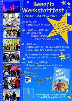 Die Barmherzigen Brüder Gremsdorf laden ein zum Werkstattfest am Sonntag, 23. November 2014 von 10:00 Uhr bis 18:00 Uhr. - Seebach Schmuck ist mit dabei!