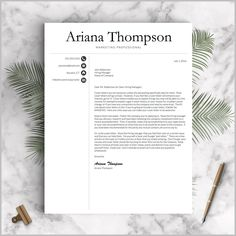 Professional Resume Template For Word    Pages  Cover Letter