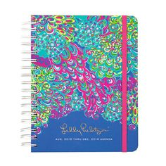 My new Lilly Pulitzer agenda for school!!!