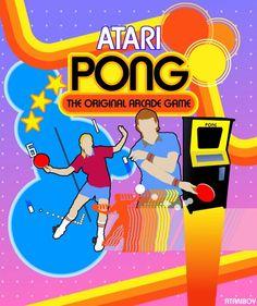 Atari Retro Pong Poster - AtariBoy2600 - deviantART