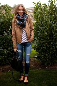 Faux Leather, Plaid + Stripes = Twenties Girl Style