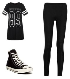 """Untitled #61"" by fallenangelkieo on Polyvore featuring Ally Fashion, Donna Karan and Converse"